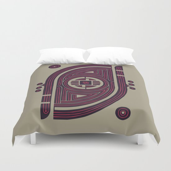 Neon Flux Duvet Cover