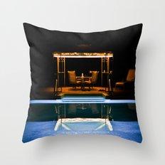 A Swim At Midnight Throw Pillow