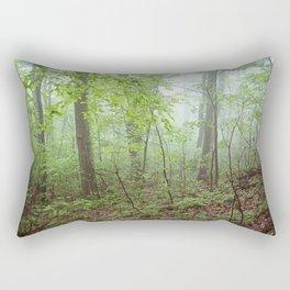 Foggy Green Forest Rectangular Pillow