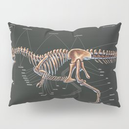 Allosaurus Fragilis Skeleton Study Pillow Sham