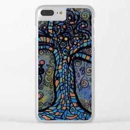 Twisty Tree Clear iPhone Case