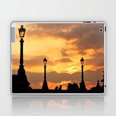 A sunset in Paris Laptop & iPad Skin