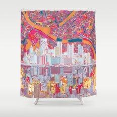 pittsburgh city skyline Shower Curtain