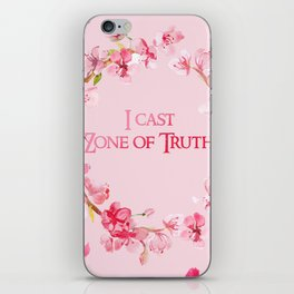 I Cast Zone of Truth iPhone Skin