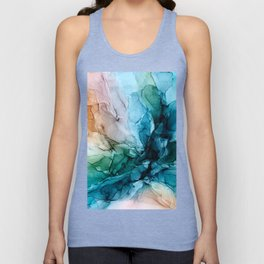 Salty Shores Abstract Painting Unisex Tank Top