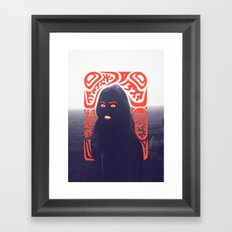 Anna in Fog Framed Art Print
