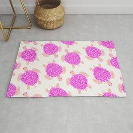 Sea Turtle – Pink Palette Rug
