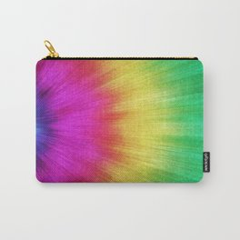 Colorful Starburst Tie Dye Carry-All Pouch