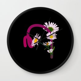 Letter M neon Wall Clock