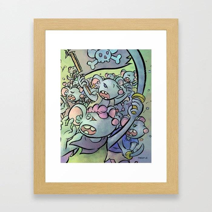 Pirate Mutiny! Framed Art Print