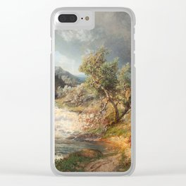Alfred Wahlberg (1834-1906) 1866 · Summer Landscape Clear iPhone Case