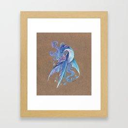 Fantasy Lapras Framed Art Print