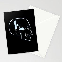 Florist Mow Mowing Skull Tattoo Skeleton Gardening Stationery Cards