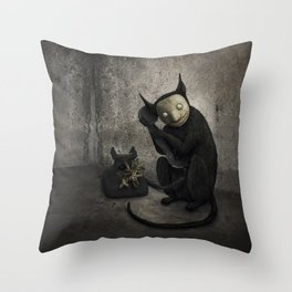 Voces perdidas Throw Pillow