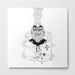Flying Monkeys Line Art  Metal Print