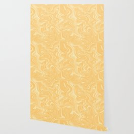 Yellow Liquid Marble Wallpaper