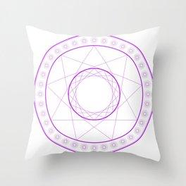 Anime Magic Circle 7 Throw Pillow