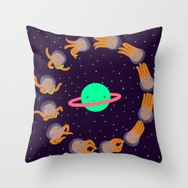 Space Octopuses! Throw Pillow