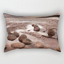 Low Tide Sunset Rectangular Pillow