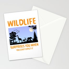 Wildlife Surprises You When You Least Expect It Stationery Cards