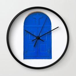 blue window Wall Clock