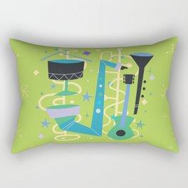 Midcentury Modern Fifties Jazz Composition Rectangular Pillow