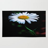 jewish Area & Throw Rugs featuring A daisy a day keeps the blues away by Brown Eyed Lady