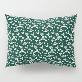 Green Floral Pillow Sham