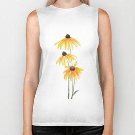 3 yellow gloriosa daisies Biker Tank
