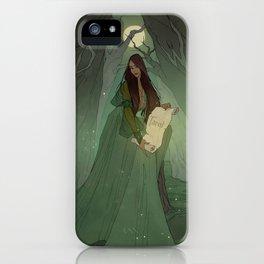 Dark Wood Tarot - HIGH PRIESTESS iPhone Case