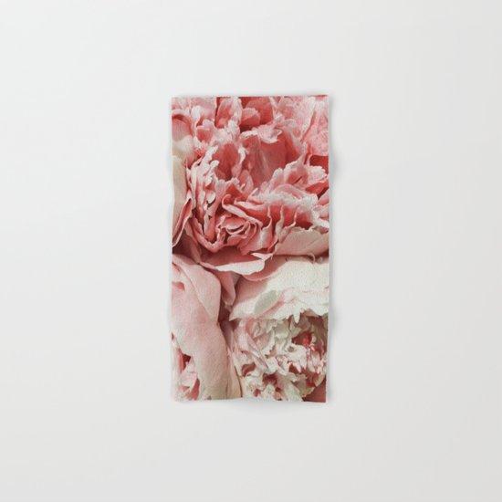 Pink Peonies Hand & Bath Towel