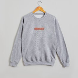 Linux - limitless, inspiring, natural, useful, extrovert - horizontal Crewneck Sweatshirt