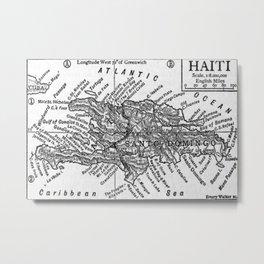 Vintage Map of Haiti (1911) Metal Print