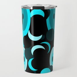 black and blue planets and moons Travel Mug