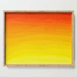 Red to Yellow Sunset Serving Tray