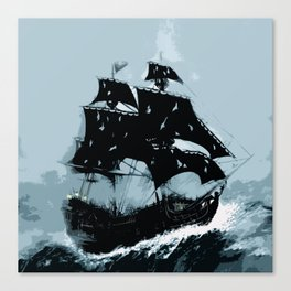 Pirate in Storm Canvas Print