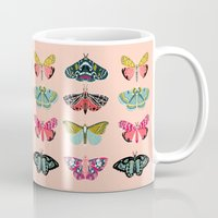 study Mugs featuring Lepidoptery No. 1 by Andrea Lauren  by Andrea Lauren Design
