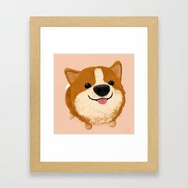 Corgi [boop the snoot!] Framed Art Print