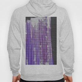 Modern abstract black violet white paint splatters pattern Hoody