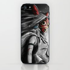 Miyazaki's Mononoke Hime Digital Painting the Wolf Princess Warrior Color Variation iPhone & iPod Skin