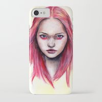 gemma correll iPhone & iPod Cases featuring Pink Gemma-2012   by Bella Harris