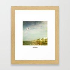océano Framed Art Print
