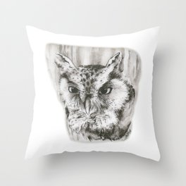 Owl Stare by annmariescreations Throw Pillow