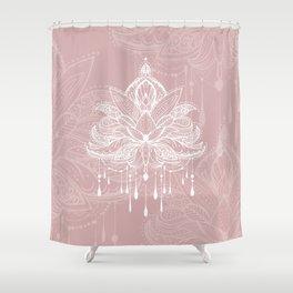 Blush mandala Shower Curtain