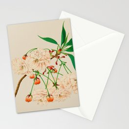 Fugen's Elephant Cherry Blossoms Stationery Cards