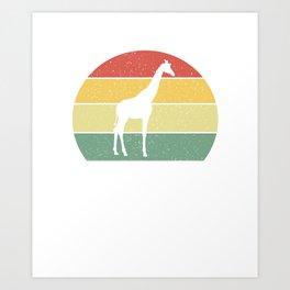 Just A Girl Who Loves Giraffes Art Print