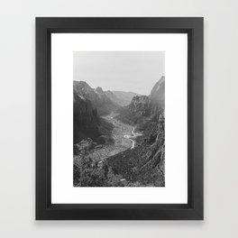 Angel's Landing Framed Art Print