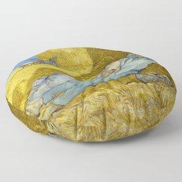Vincent Van Gogh - Noon, Rest from work / Siesta Floor Pillow