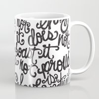 scripture Mugs featuring LOVE IS PATIENT... by Matthew Taylor Wilson