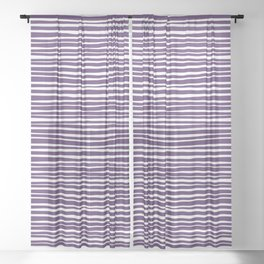 Small Geometry - Purple Lines Sheer Curtain